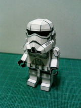 Star Wars Free Printable Star trooper. Paper Toys.